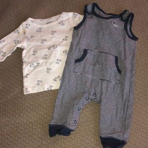 Carters 2 piece matching set 3 months